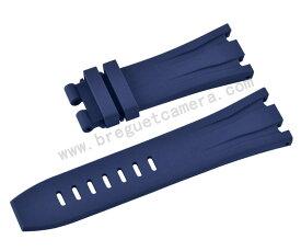 Audemars Piguet/オーデマピゲ Royal Oak Offshore/ロイヤル オーク オフショア 44mm AP 26400 26401適用Vagenari ラバー ストラップ/ベルト ブルー