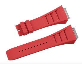 Richard Mille リシャール ミル RM030 RM035 RM055に適用 Vagenari ラバー ストラップ/ベルト 赤