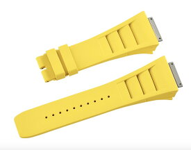 Richard Mille リシャール ミル RM030 RM035 RM055用ベルト Vagenari ラバー ウオッチ ストラップ 黄色 Yellow