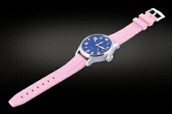パネライ PAM ロレックスデイトナ 22mm用★新品★VAGENARIバイトンラバーストラップ ピンク