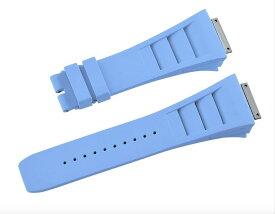 Richard Mille リシャール ミル RM011 適用する Vagenari ラバー ウオッチ ストラップ ブルー 青 Blue