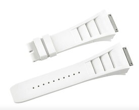 Richard Mille リシャール ミル RM011適用する Vagenari ラバー ウオッチ ストラップ  ホワイト 白 White