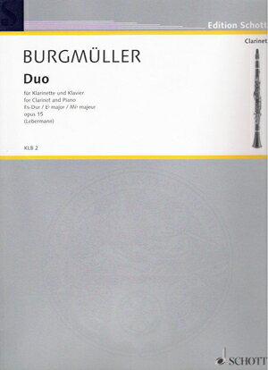 輸入楽譜/クラリネット/ブルグミュラー:デュオ 変ホ長調 Op.15