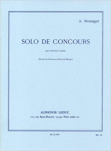 輸入楽譜/クラリネット/メサジェ:コンクールの独奏曲