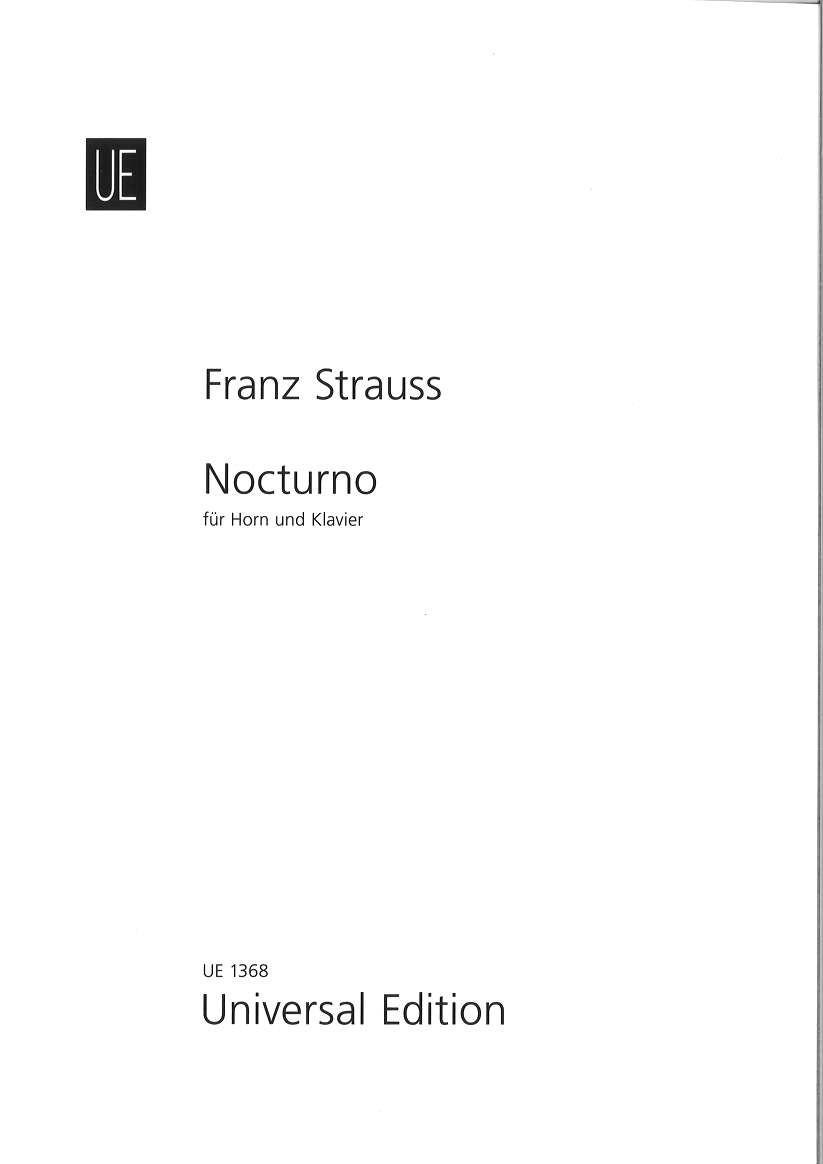 輸入楽譜/ホルン/F,シュトラウス:ノクターン Op.7