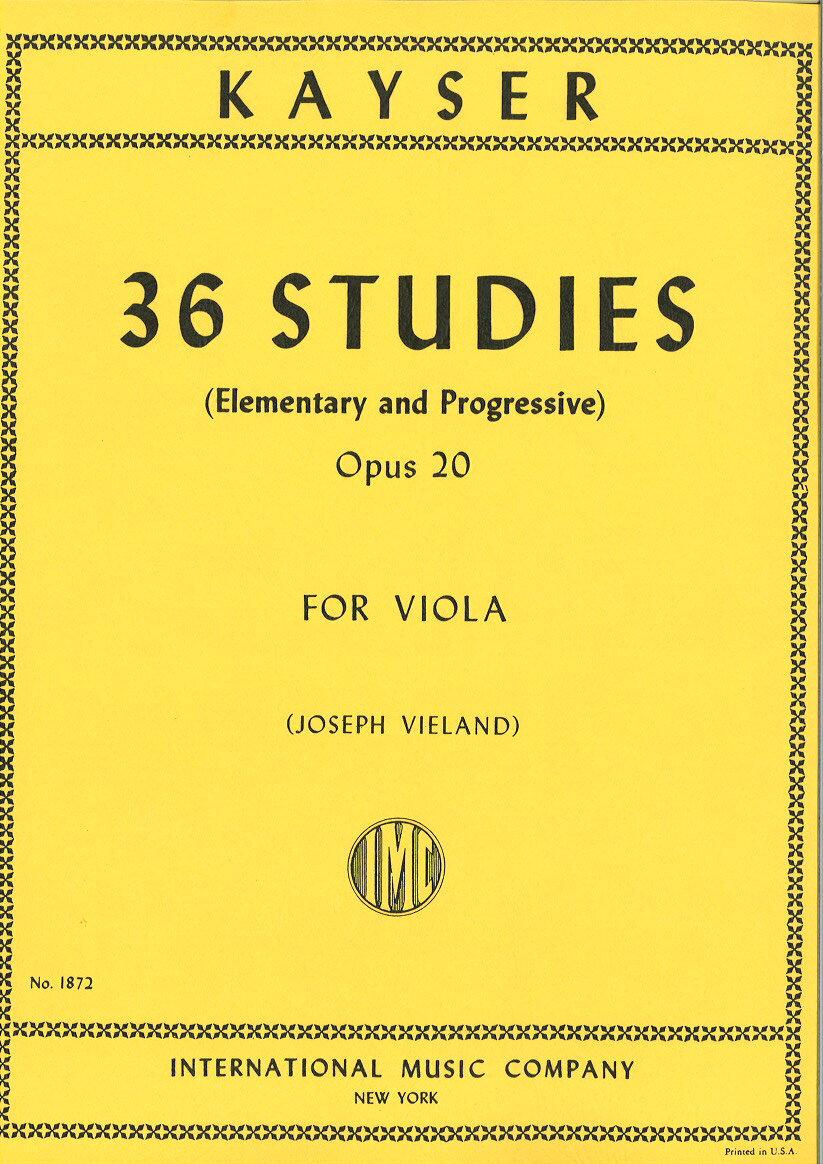 輸入楽譜/ビオラ(ヴィオラ)/カイザー:36の練習曲 Op.20