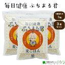 3袋セット 西田精麦 毎日健康ぷちまる君 1kg 熊本県産 大麦100% ぷちぷち もっちり 麦ごはん 食物繊維 もちむぎ もち…