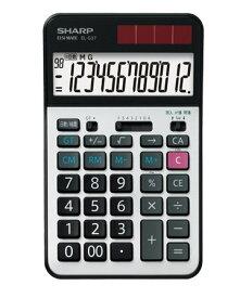 シャープ EL-G37 学校用電卓 12桁 早打ち機能 2キーロールオーバー sharp 計算機 電卓 簿記 会計士 資格 人気
