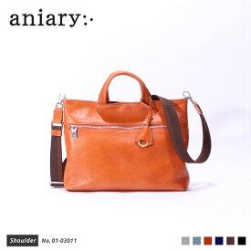 【新作 2019 S/S】【aniary|アニアリ】Antique Leather アンティークレザー 牛革 Shoulder ショルダーバッグ 01-03011 メンズ 斜め掛け [送料無料]