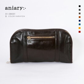 【aniary アニアリ】Antique Leather アンティークレザー 牛革 Clutch クラッチバッグ 01-08001 メンズ [送料無料]