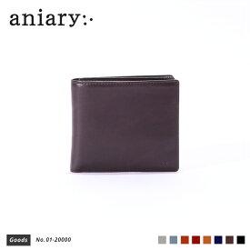 【新色 2019 S/S】【aniary|アニアリ】Antique Leather アンティークレザー 牛革 Goods ウォレット 二つ折り財布 01-20000 メンズ [送料無料]