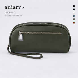 【aniary アニアリ】Grind Leather グラインドレザー 牛革 Clutch クラッチバッグ 15-08002 メンズ [送料無料]