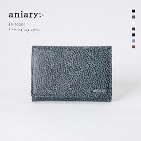 【aniary アニアリ】Grind Leather グラインドレザー 牛革 Goods カードケース 名刺入れ 15-20004 メンズ [送料無料]