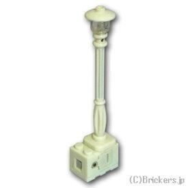 レゴ カスタム パーツ ランプポスト 街灯 アンバー LED [ White / ホワイト ] | lego