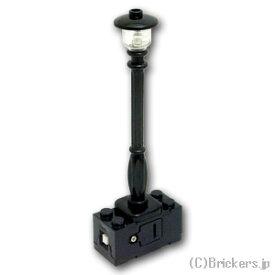 レゴ カスタム パーツ ランプポスト 街灯 ホワイト LED [ Black / ブラック ] | lego