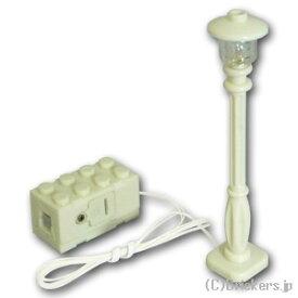 レゴ カスタム パーツ ランプポスト 街灯 アンバー LED ケーブル付 [ White / ホワイト ] | lego