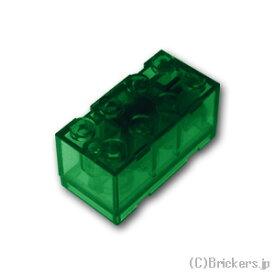 レゴ カスタム パーツ ライトブロック 2 x 4 x 1 2/3 グリーン LED [ Tr,Green / トランスグリーン ] | lego