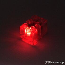 レゴ カスタム パーツ ライトブロック 2 x 3 x 1 2/3 レッド LED [ Tr,Clear / トランスクリアー ] | lego