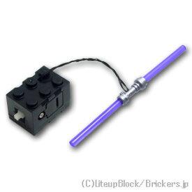 レゴ カスタム パーツ ミニフィグ ライトセーバー ピンク LED [ Tr,Purple / トランスパープル ] | lego ミニフィギュア 人形 スターウォーズ 武器 ライトセイバー