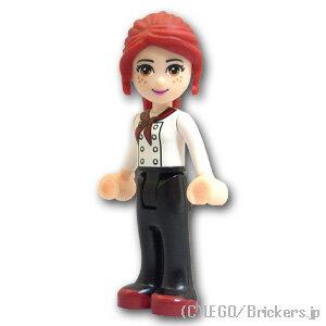 レゴ フレンズ ミニフィグ ミア - ブラックパンツ / ホワイトトップ | lego フィギュア 人形 ミニフィギュア 女の子