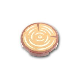レゴ パーツ タイル 2 x 2 フラットラウンド スタッドホルダー - 切り株パターン [ Reddish Brown / ブラウン ] | lego 部品