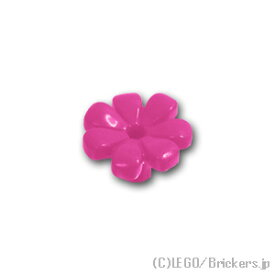 レゴ パーツ フラワー - 花びら7枚 [ Dark Pink / ダークピンク ] | lego 部品
