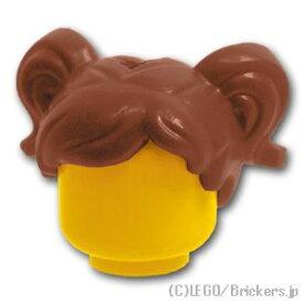 レゴ パーツ ミニフィグ ヘア - ショートピッグテール トップホール [Reddish Brown/ブラウン] | LEGO純正品の バラ 売り