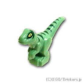 レゴ パーツ 恐竜の赤ちゃん ダークグリーンストライプ パターン [ Sand Green / サンドグリーン ] | lego 部品
