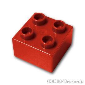レゴ デュプロ パーツ 基本 ブロック 2 x 2 [ Red / レッド ] | 大きいレゴブロック
