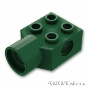 レゴ テクニック パーツ ブロック 2 x 2 - ローテーションジョイントソケット [ Dark Green / ダークグリーン ] | lego 部品