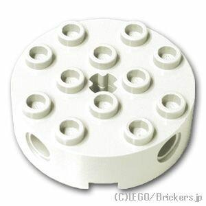 レゴ テクニック パーツ ブロック 4 x 4 - ラウンド [ White / ホワイト ] | lego 部品