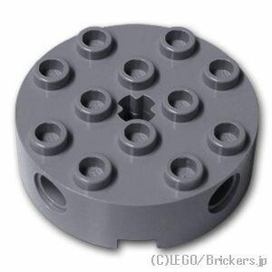 レゴ テクニック パーツ ブロック 4 x 4 - ラウンド [ Dark Bluish Gray / ダークグレー ] | lego 部品