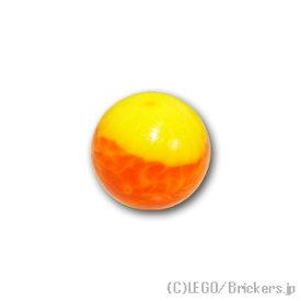 レゴ バイオニクル パーツ スフィア イエローマーブルパターン [ Tr,Orange / トランスオレンジ ] | lego 部品