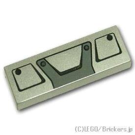 レゴ パーツ タイル 1 x 3 - トラックグリルフレームパターン [ MetallicSilver / メタリックシルバー ] | lego 部品