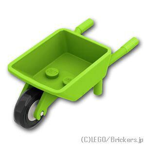 レゴ パーツ 一輪車 [ Lime / ライム ] | lego 部品