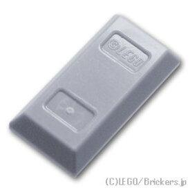 レゴ ミニフィグ パーツ ゴールドバー [ Light Bluish Gray / グレー ] | lego 部品 ミニフィギュア アクセサリー 金 金塊