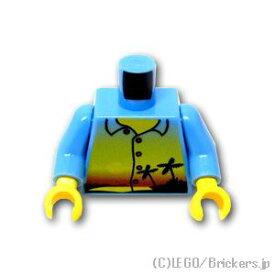レゴ パーツ トルソー - サンセットプリントシャツ [ Md,Blue / ミディアムブルー ] | lego 部品