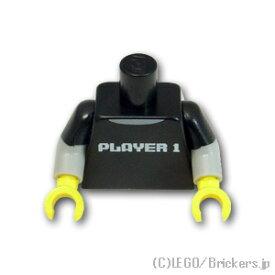 レゴ Tシャツ プリント トルソー PLAYER 1 パターン [ Black / ブラック ] | lego ミニフィグ ミニフィギュア ボディ 人形