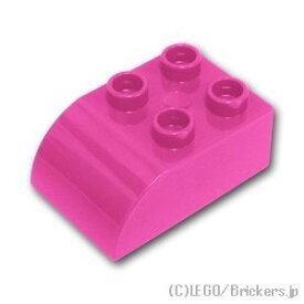 レゴ デュプロ パーツ 基本 ブロック 2 x 3 カーブトップ [ Dark Pink / ダークピンク ] | 大きいレゴブロック