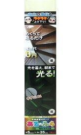 エルティーアイ あるふら α-FLASH009 高輝度蓄光テープ 階段・手すり用 幅5mm×長さ35cm 14本入 4571144170400