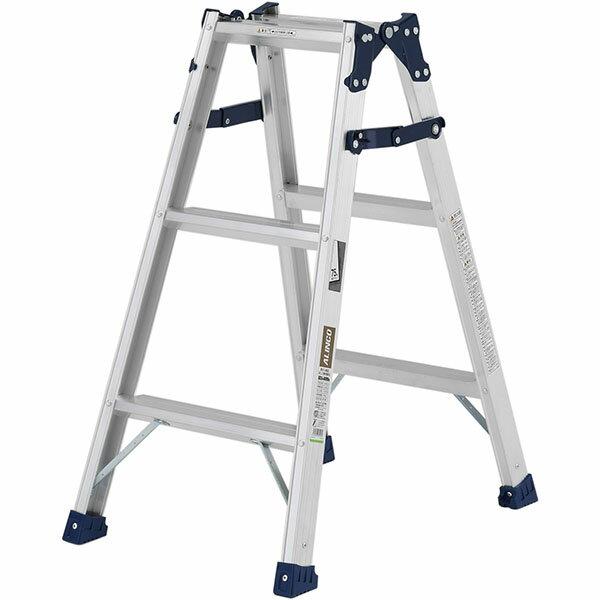 【送料無料】【直送】ALINCO アルインコ はしご兼用脚立90cm ステップ幅広 MXA-90W