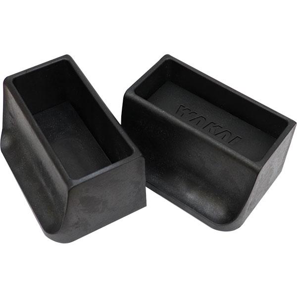 WAKAI ツーバイフォー材 2×4材専用壁面突っ張りシステム ディアウォール ブラック(黒) 上下パッドセット DWS90BK 棚・ラック・木製 あす楽