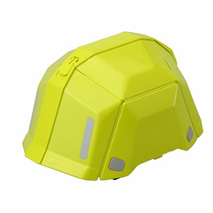 トーヨーセフティー 折りたたみヘルメット BLOOM ブルームII No.101 防災用 ライム