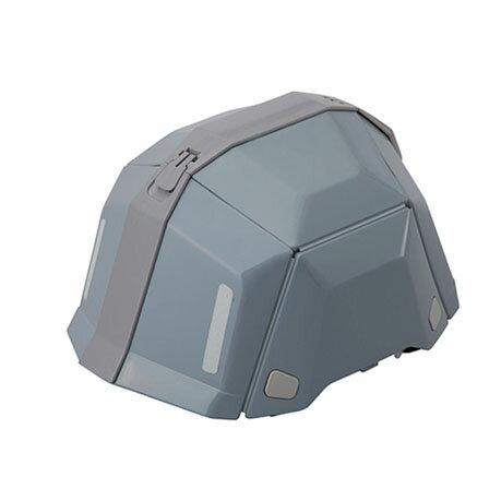 トーヨーセフティー 折りたたみヘルメット BLOOM ブルームII No.101 防災用 グレー