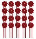 胸章リボンバラ(胸バラ徽章)<小赤-20個セット>