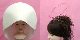 綿帽子 ヘアー 補正器具 結婚式 神前式 ピーコック