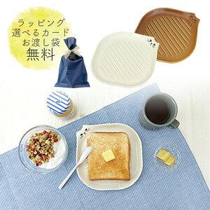 トースト 皿 トーストプレート 母の日 パン皿 トースト 皿 朝食 プレート かわいい 白 ブラウン ネコ 猫 電子 レンジ 対応 プレゼント ギフト おしゃれ 雑貨 誕生日 母の日 結婚 誕生日 お祝い