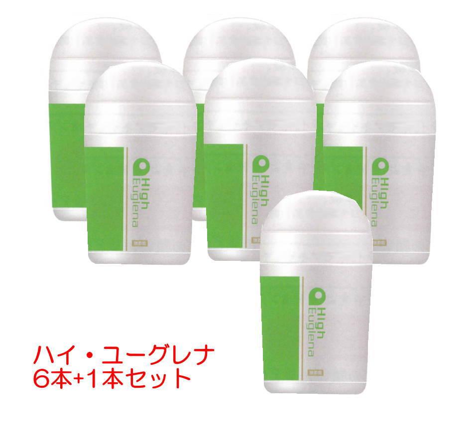 【ミドリムシ サプリメント】一番濃い「ハイユーグレナ」 6本+1本 冷え性のレビュー多数