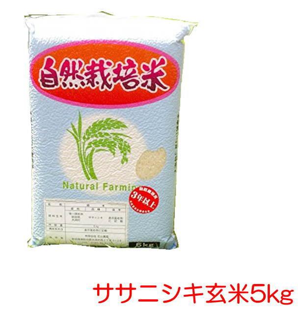 無農薬『ササニシキ 玄米 5kg 』 自然栽培、石山農産。