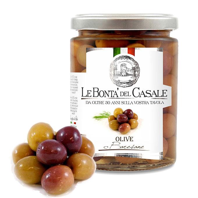 ローズオリーブ イタリア プーリア州産 オードブル用 バレザーネ種 塩水漬け 280g rose olive baresane le bonta del casale